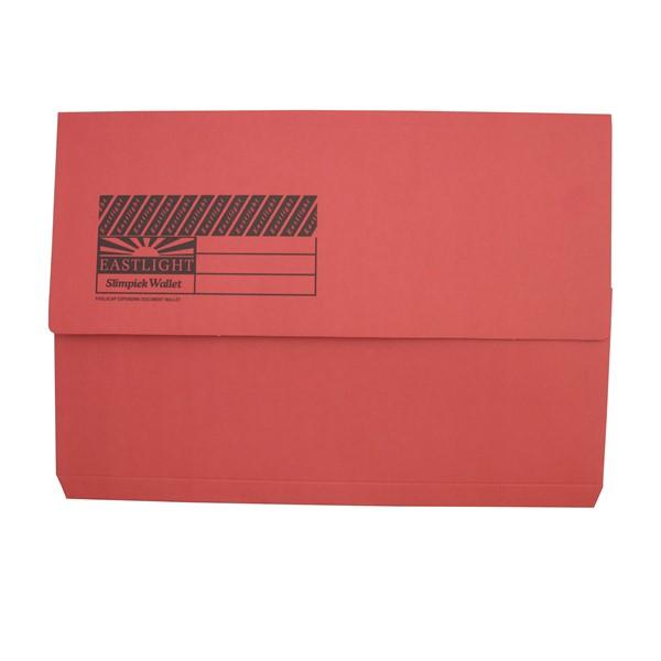 Eastlight Document Wallet Foolscap Red -