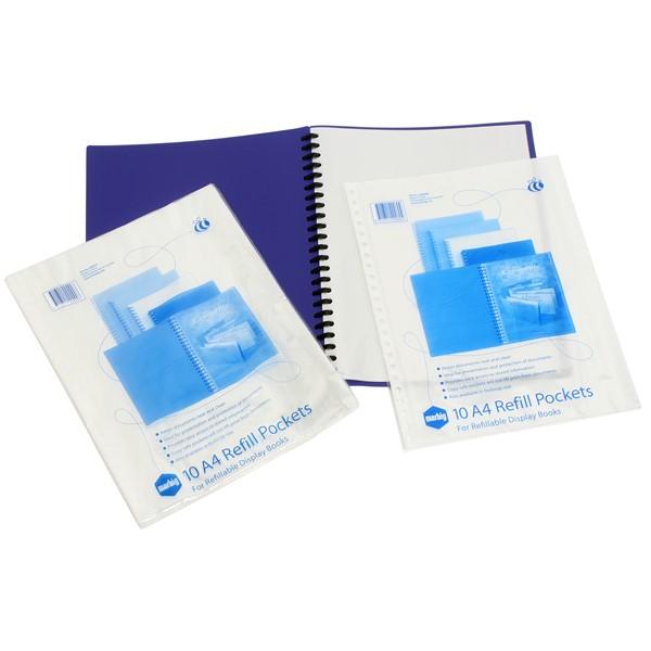 Marbig Display Book Refills Clear 10 Pockets -