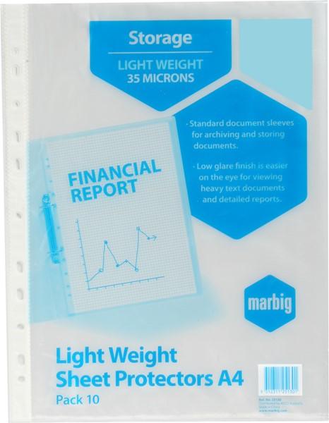Marbig Copysafe Pockets A4 10 Pack -