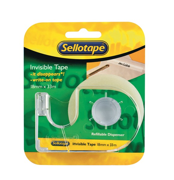 Sellotape Tape Invisible 18mmx33m With Dispenser - pr_400408