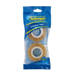 Sellotape Tape Cellulose 18mmx33m Pack 2