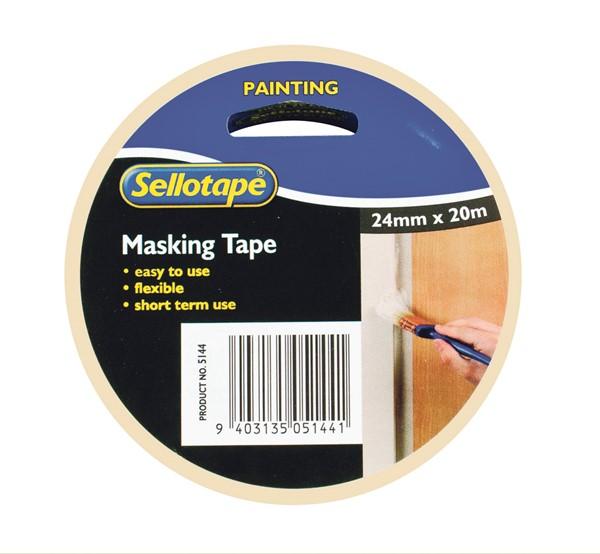 Sellotape Masking Tape Premium 24mm X 20m -