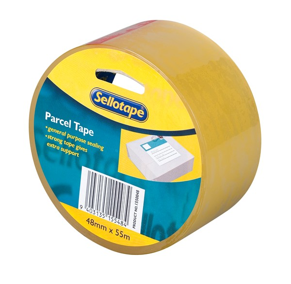 Sellotape Packaging Tape Polypropylene 48mmx55m Clear - pr_400420
