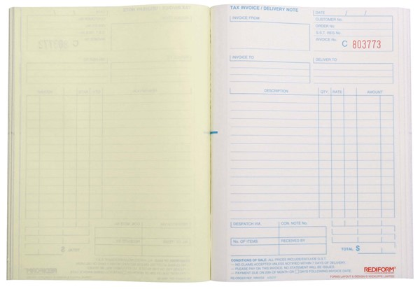 Rediform Account Book Invoice/Delivery Duplicate 50 Pages - pr_1773060