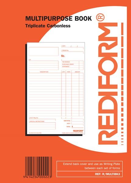 Rediform Account Book Multipurpose Triplicate 50 Pages - pr_1773050
