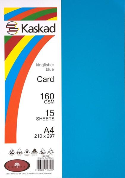 Kaskad Card A4 160gsm Kingfisher Blue Pack 15 - pr_1702674