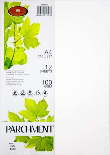 Parchment  Paper A4 100gsm Nova White Pack 12 -