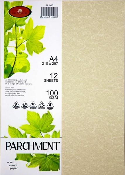 Parchment  Paper A4 100gsm Orion Cream Pack 12 - pr_400431