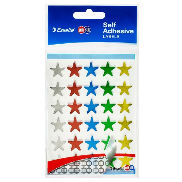 Quik Stik Star Labels Assorted, Pack of 150 -