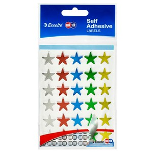 Quik Stik Star Labels Assorted, Pack of 150