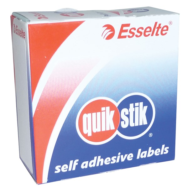 Quik Stik Rectangle Labels 29x76mm White, Pack of 180 - pr_427307