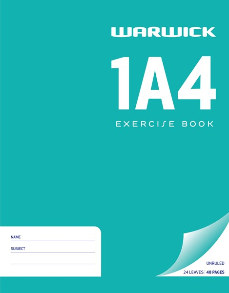 Warwick Exercise Book 1A4 Plain 24lf - pr_400469