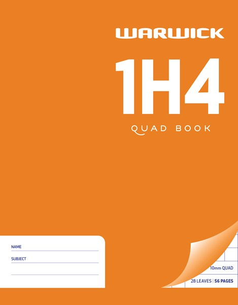 Warwick Exercise Book 1H4 10mm Quad 28lf - pr_400471