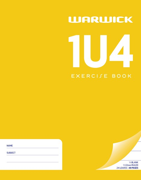 Warwick Exercise Book 1U4 230x180mm Ruled & Unruled 24 Pages - pr_1773010