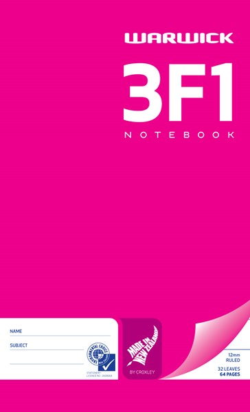 Warwick Notebook 3F1 165x100mm 12mm Ruled 32 Pages - pr_1773044