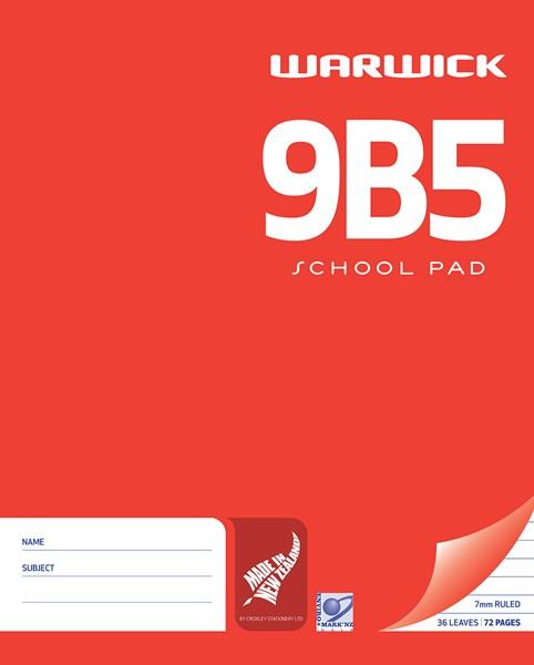 Warwick Pad 9B5 White 7mm Ruled 36lf - pr_400480