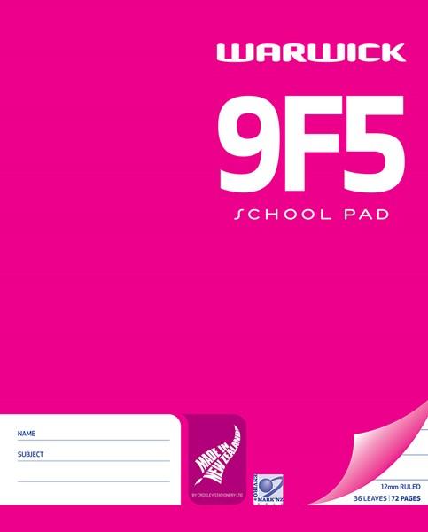 Warwick Pad 9F5 White 12mm Ruled 36lf - pr_400481