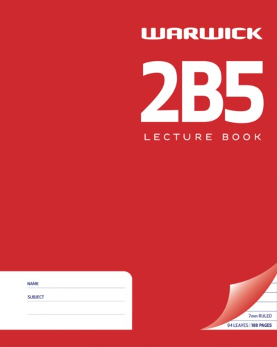Warwick Exercise Book 2B5 255x205mm 7mm Ruled Hardcover 94 Pages - pr_1772999