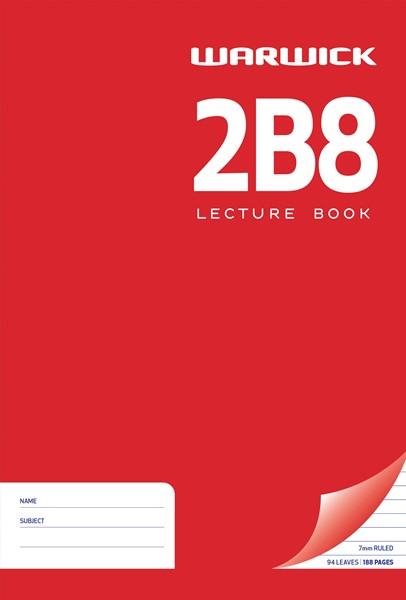 Warwick Lecture Book 2B8 94 Leaf A4 Ruled 7mm -