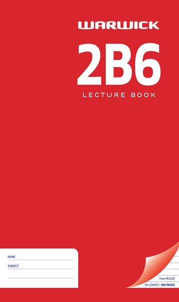 Lecture Book Warw 2B6 7mm Ruled 94lf - pr_400490