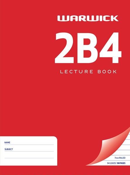 Lecture Book Warw 2B4 7mm Ruled 94lf - pr_400489