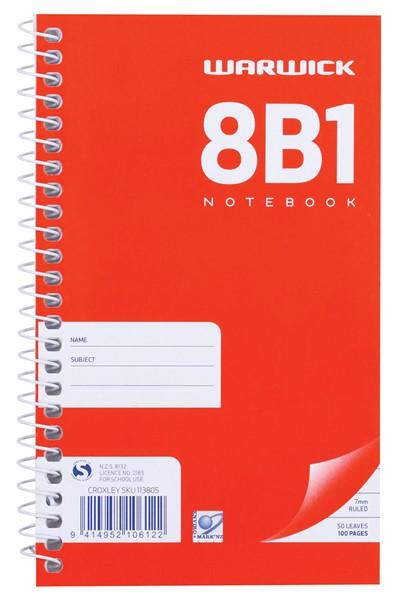 Warwick Notebook 8B1 Spiral 7mm 50lf - pr_400488