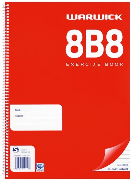Warwick Notebook 8B8 A4 Spiral 7mm 50lf - pr_400496