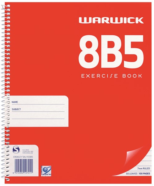 Warwick Notebook 8B5 Spiral 7mm Ruled 50lf - pr_400495