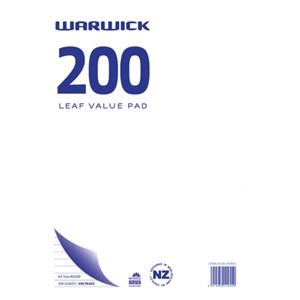 Warwick Value Pad A4 7mm Ruled 200lf