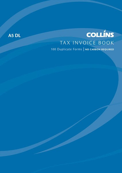 Collins Tax Invoice Book A5 DL Duplicate 100 Pages -