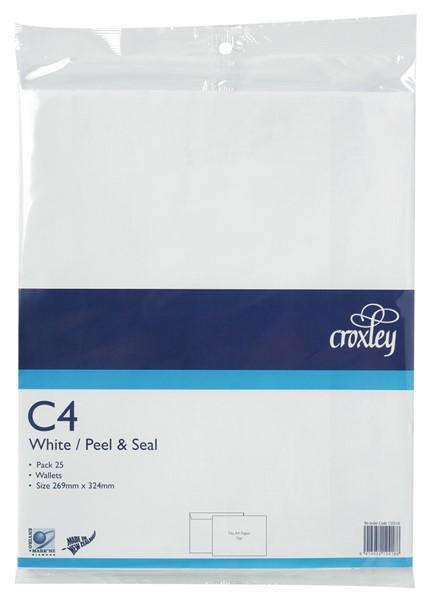 Croxley Envelopes C4 Peel & Seal Non Window White Pack 25 - pr_400520