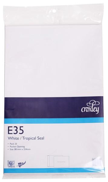 Croxley Envelopes E35 Tropical Seal Non Window White Pack 25 - pr_400522