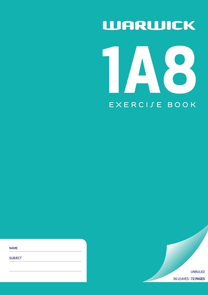 Warwick Exercise Book 1A8 A4 Unruled 36 Pages - pr_1773018
