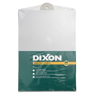 Dixon Binding Covers 0.18mm Clear Pack 100