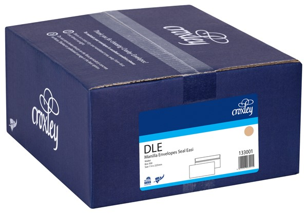 Croxley Envelopes DLE Seal Easi Non Window Kraft Box 500 - pr_400533