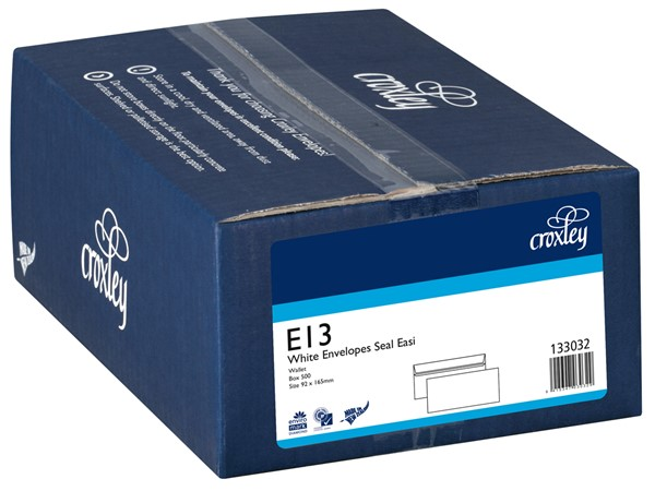 Croxley Envelopes E13 Seal Easi Non Window White Box 500 - pr_400537