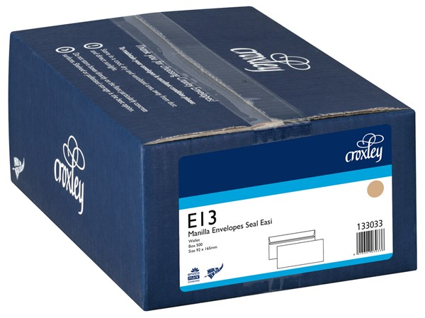 Croxley Envelopes E13 Non Window Seal Easi Manilla Box 500 - pr_400538