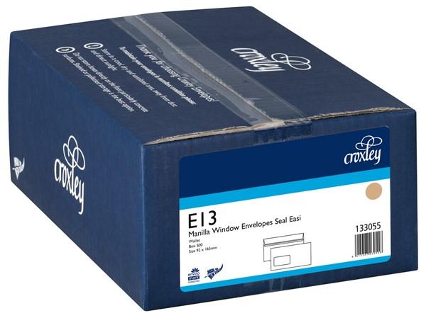 Croxley Envelopes E13 Window Seal Easi Manilla Box 500 - pr_400536