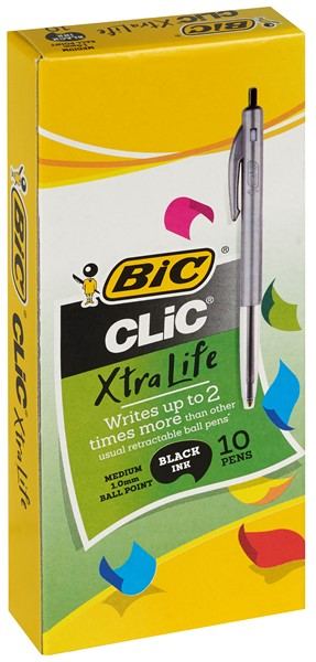 Bic Ballpoint Pen Medium Clic Black Box 10 - pr_1699960