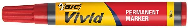 Bic Vivid Permanent Fine Marker Red -