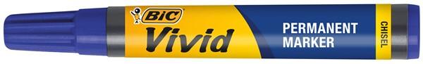 Bic Vivid Permanent Marker Chisel Blue - pr_1706264
