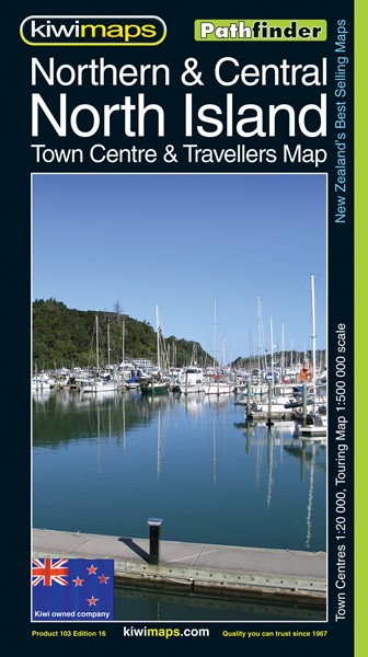 Pathfinder Northern & Central North Island Town Centre & Travellers Map - pr_1700940