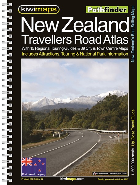 Pathfinder New Zealand Travellers Road Atlas A4 Map Book -