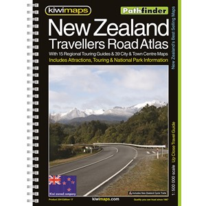 Pathfinder New Zealand Travellers Road Atlas A4 Map Book