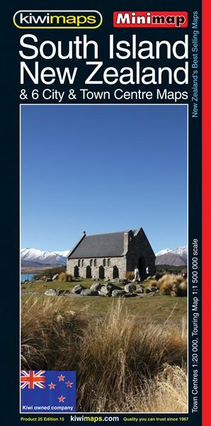 Minimap South Island New Zealand -