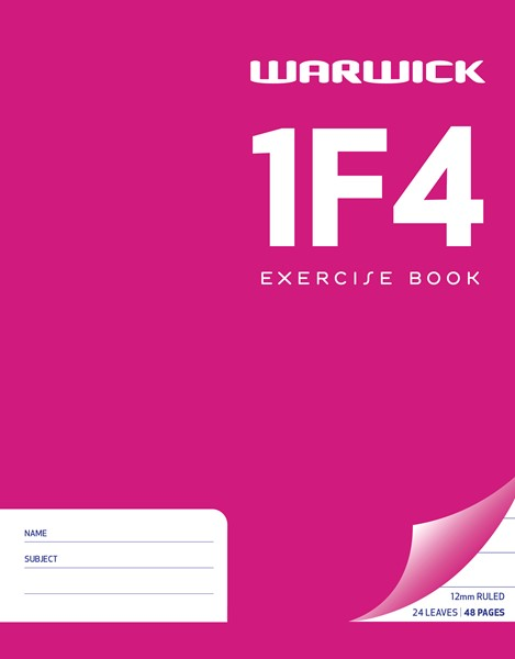 Warwick Exercise Book 1F4 230x180mm 12mm Ruled 24 Pages - pr_1773002
