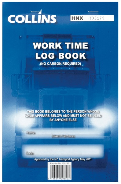Collins Log Book Driving Hours A5 Triplicate 50 Pages -