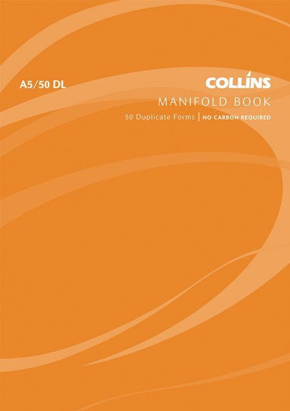 Collins Manifold Book A5/50 DL Duplicate 50 Pages -