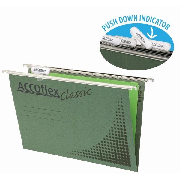 Accoflex Suspension Files Foolscape Green, Pack of 10 - pr_1702156