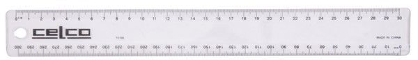 Celco Ruler 30cm Clear -